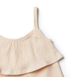Peach Dust Ruffle Tank