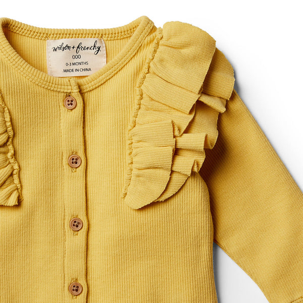 Jojoba Cardigan with Ruffle