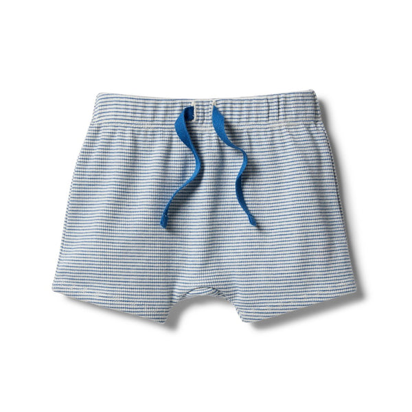 Organic Stripe Rib Short