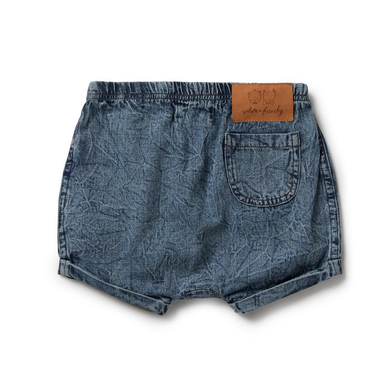 Denim Rolled Shorts