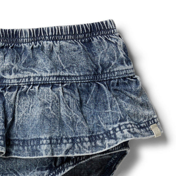 Denim Ruffle Nappy Pant