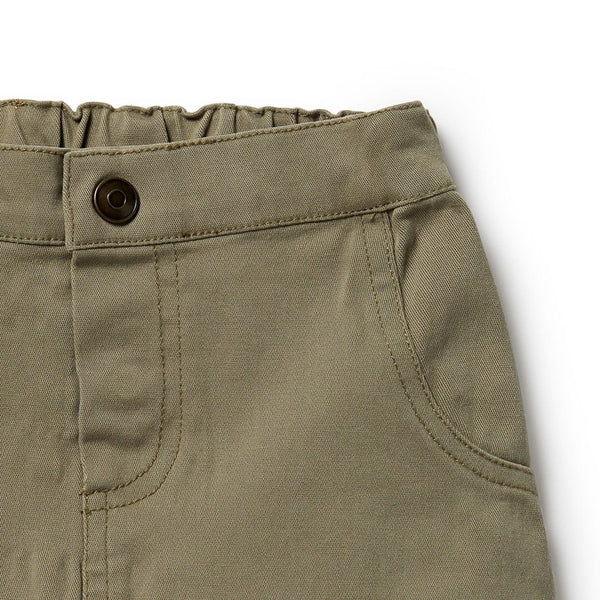 Stretch Drill Slouch Shorts