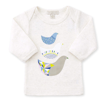 OATMEAL LITTLE FAMILY LONG SLEEVE TOP - Wilson and Frenchy
