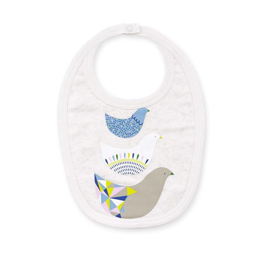 OATMEAL LITTLE FAMILY BIB - Wilson and Frenchy