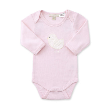 PINK LITTLE BIRD BODYSUIT - Wilson and Frenchy