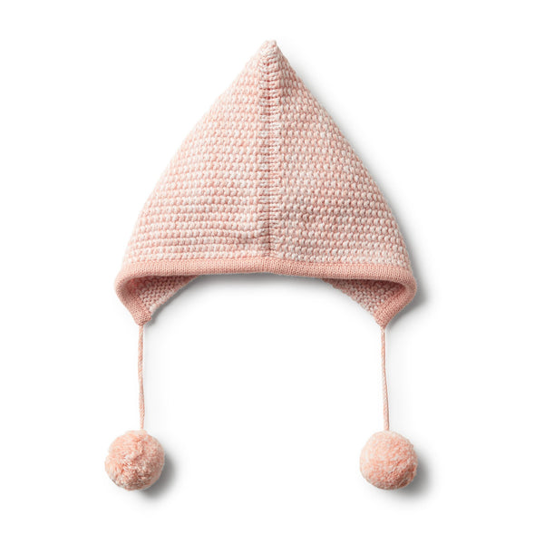 STRAWBERRY & CREAM KNITTED BONNET - Wilson and Frenchy
