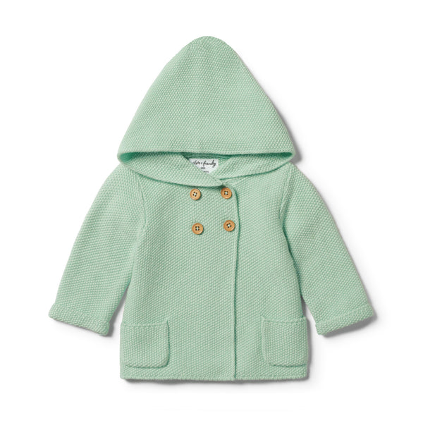 MOSS GREEN KNITTED JACKET - Wilson and Frenchy