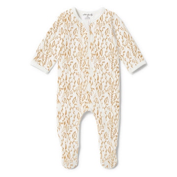 ORGANIC LITTLE VINE ZIPSUIT - Wilson and Frenchy