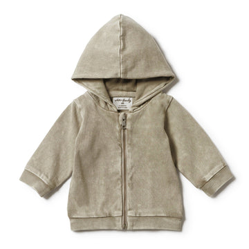 PUTTY HOODED JACKET WITH ZIP