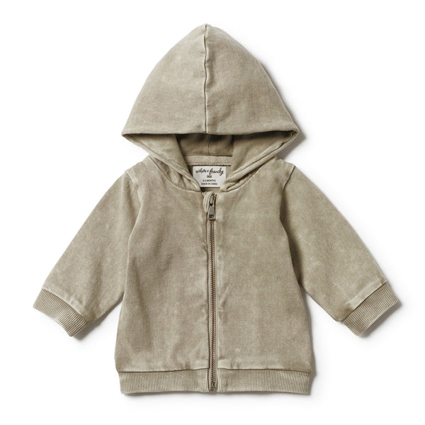 PUTTY HOODED JACKET WITH ZIP - Wilson and Frenchy