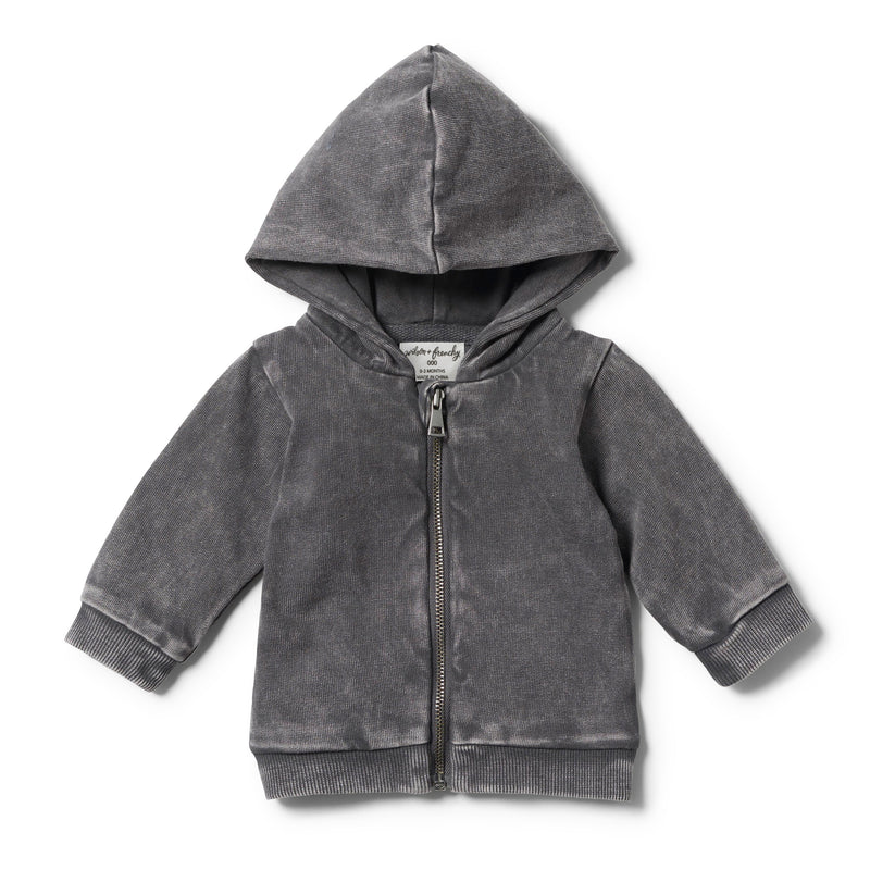 ASH HOODED JACKET WITH ZIP - Wilson and Frenchy