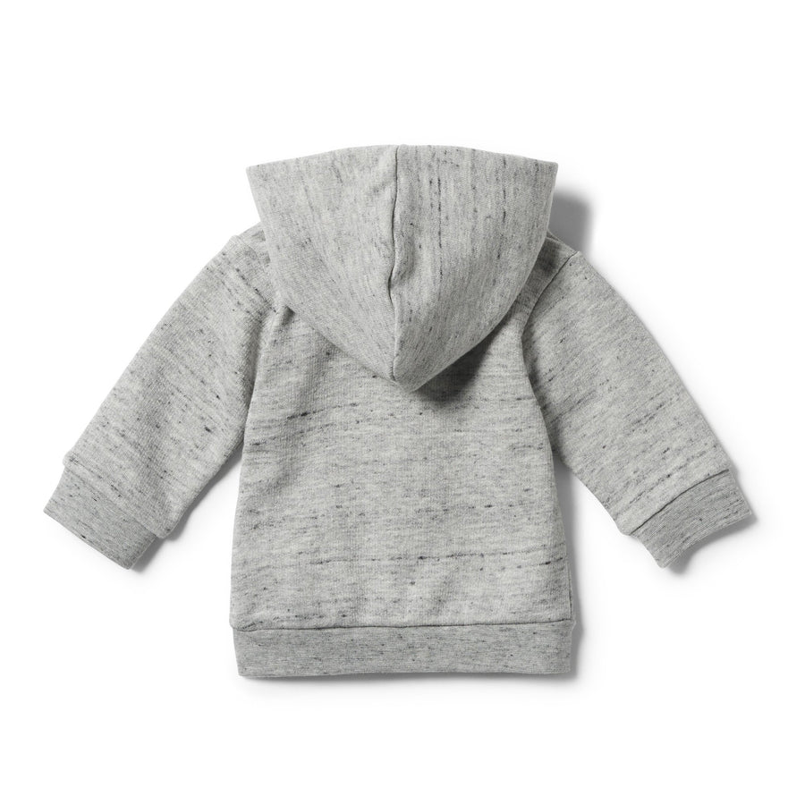 GREY FLECK HOODED JACKET WITH ZIP - Wilson and Frenchy