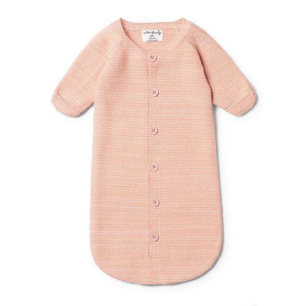 STRAWBERRY & CREAM KNITTED COCOON SLEEPER - Wilson and Frenchy