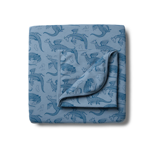 Organic Little Dragon Cot Sheet Set