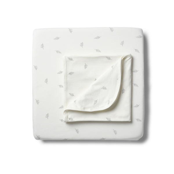 Organic Float Away Cot Sheet Set