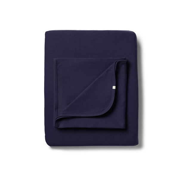 Organic Twilight Blue Bassinet Sheet Set