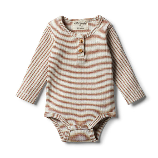 Organic Toasted Pecan Bodysuit - Wilson and Frenchy