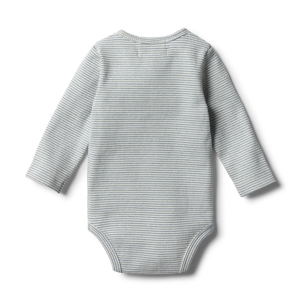 Organic Faded Denim Bodysuit - Wilson and Frenchy