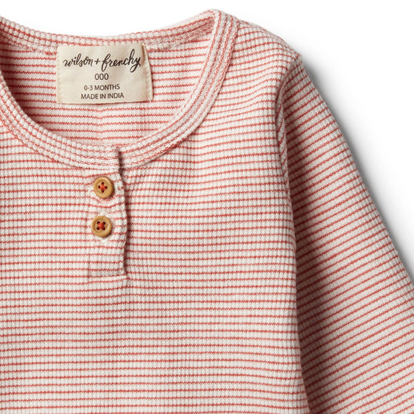 Organic Chilli Henley Top