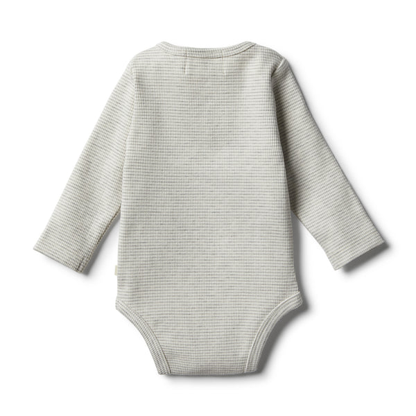 Organic Cloud Grey Bodysuit - Wilson and Frenchy