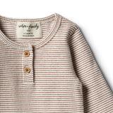 Organic Toasted Pecan Henley Top