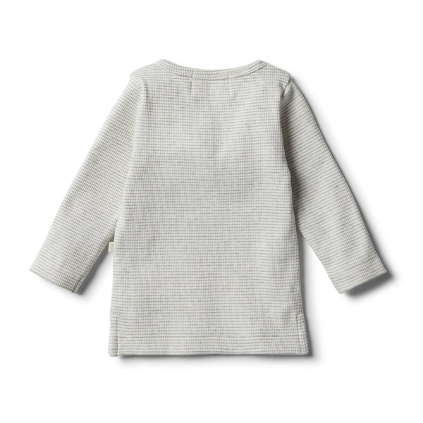 Organic Cloud Grey Henley Top - Wilson and Frenchy