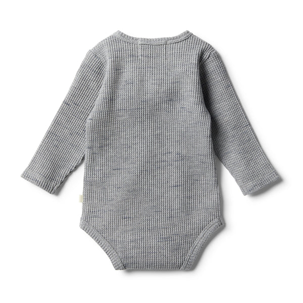 Cloud Grey Waffle Bodysuit - Wilson and Frenchy