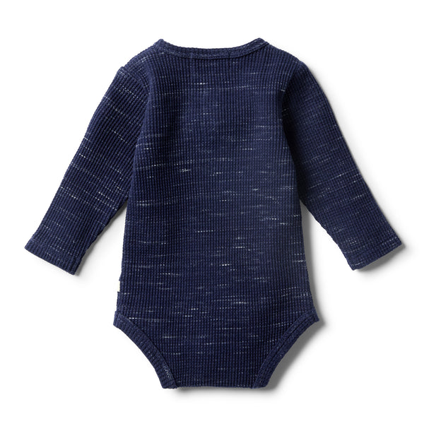 Twilight Blue Waffle Bodysuit - Wilson and Frenchy