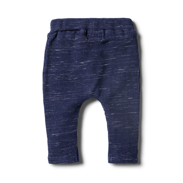 Twilight Blue Waffle Slouch Pant - Wilson and Frenchy