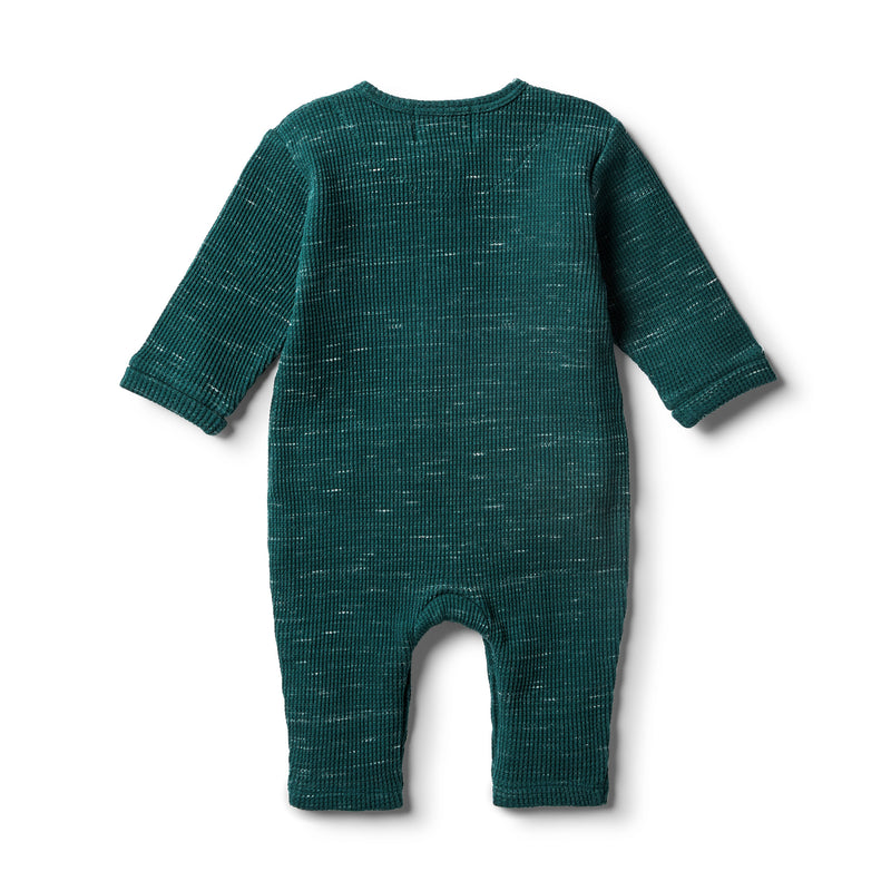 Fern Waffle  Slouch Growsuit - Wilson and Frenchy