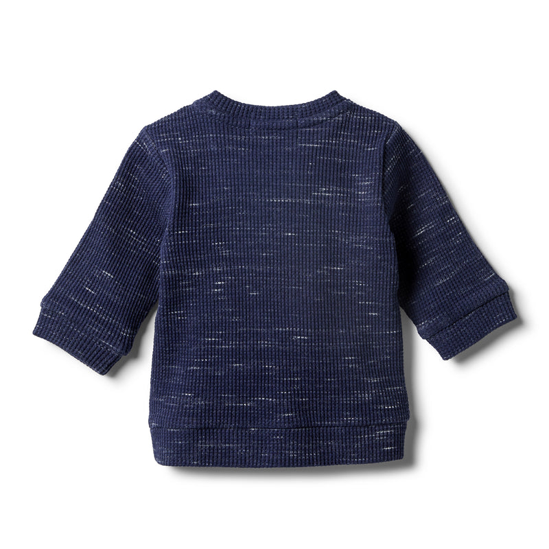 Twilight Blue Waffle Slouch Sweat - Wilson and Frenchy