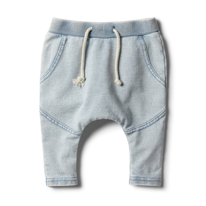 Shark Grey Denim Look Slouch Pant - Wilson and Frenchy