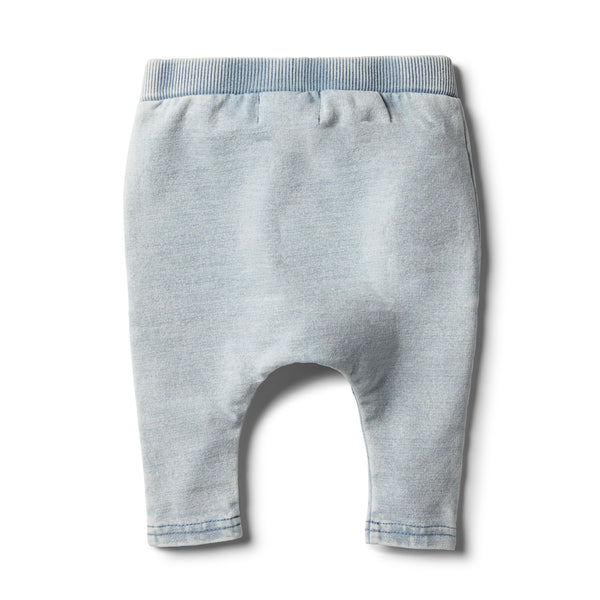 Shark Grey Denim Look Slouch Pant