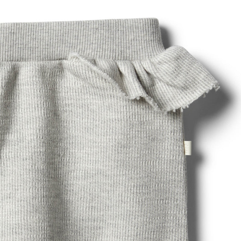 Oatmeal Speckle Ruffle Sweat Pant