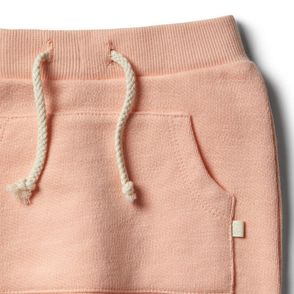 Tropical Peach Speckle Slouch Pant