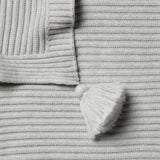 Cloud Grey Rib Blanket