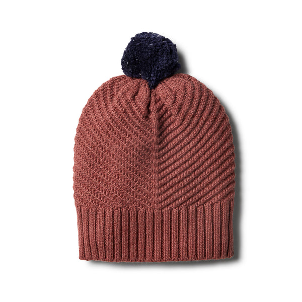 Chilli Marle Knitted Chevron Hat - Wilson and Frenchy