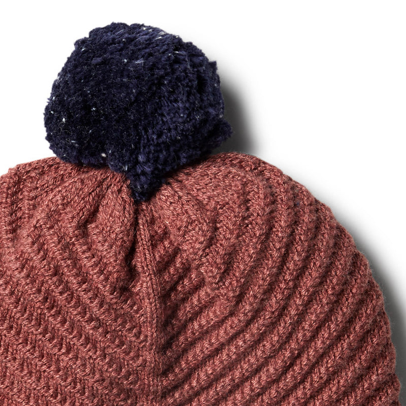 Chilli Marle Knitted Chevron Hat