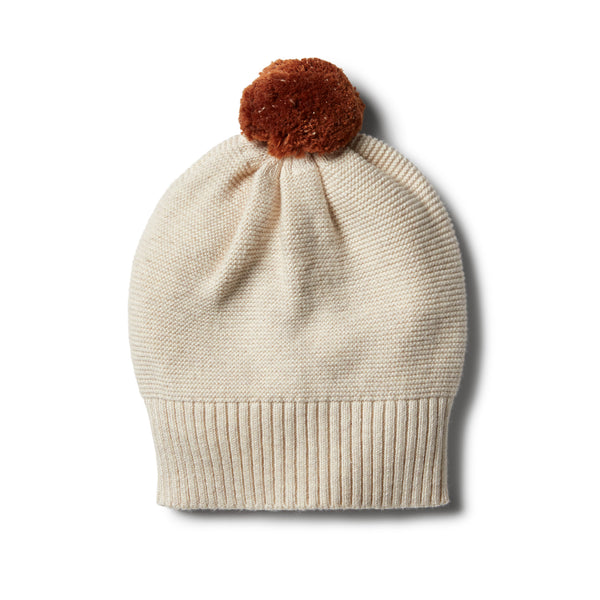 Oatmeal Knitted Hat - Wilson and Frenchy