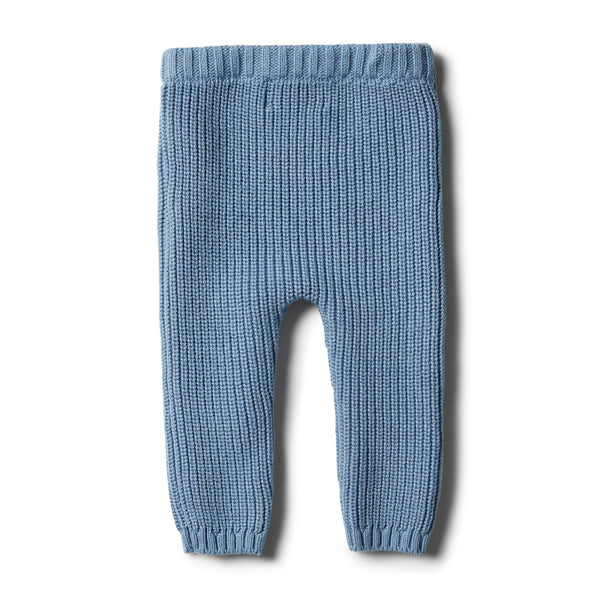 Faded Denim Rib Knitted Legging - Wilson and Frenchy