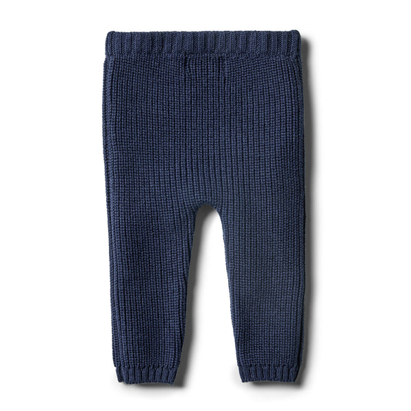 Twilight Blue Rib Knitted Legging - Wilson and Frenchy