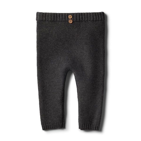 Storm Grey Knitted Legging - Wilson and Frenchy