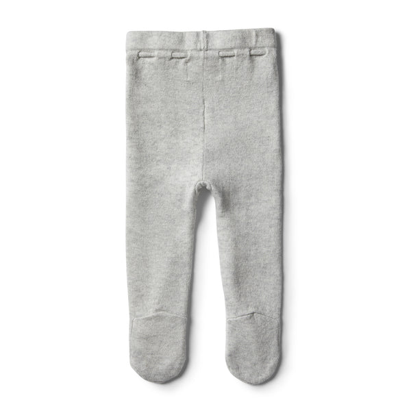 Cloud Grey Knitted Legging with Feet - Wilson and Frenchy