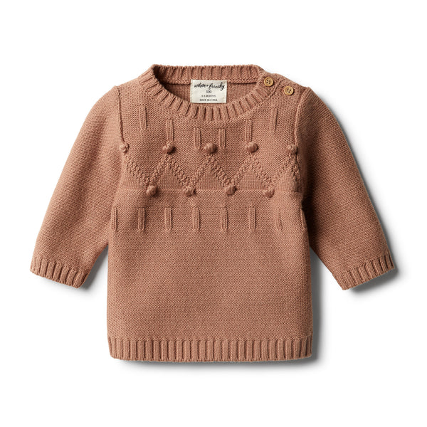 Nutmeg Knitted Jacquard Jumper - Wilson and Frenchy