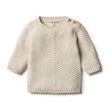 Oatmeal Knitted Chevron Jumper - Wilson and Frenchy