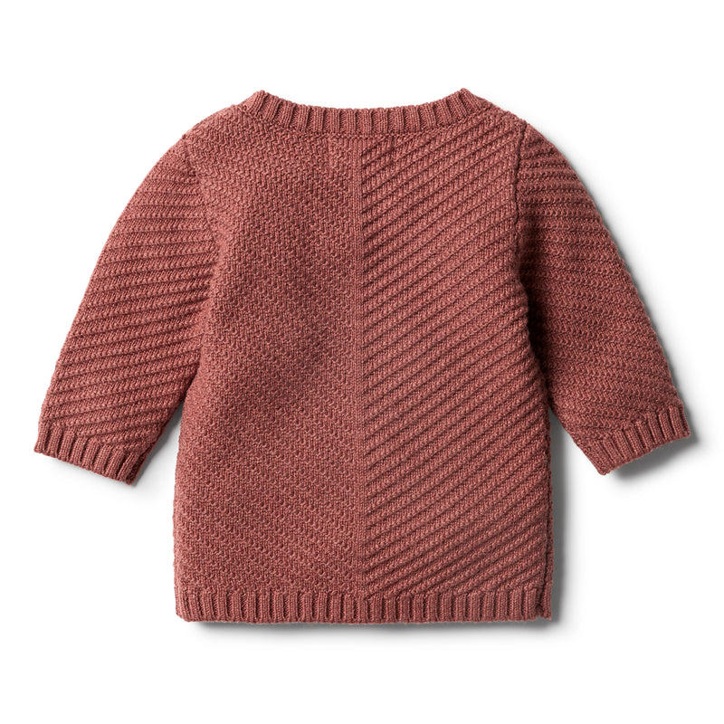 Chilli Marle Knitted Chevron Jumper - Wilson and Frenchy