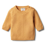 Golden Apricot Knitted Chevron Jumper - Wilson and Frenchy
