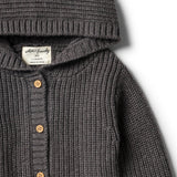 Storm Grey Rib Knitted Jacket