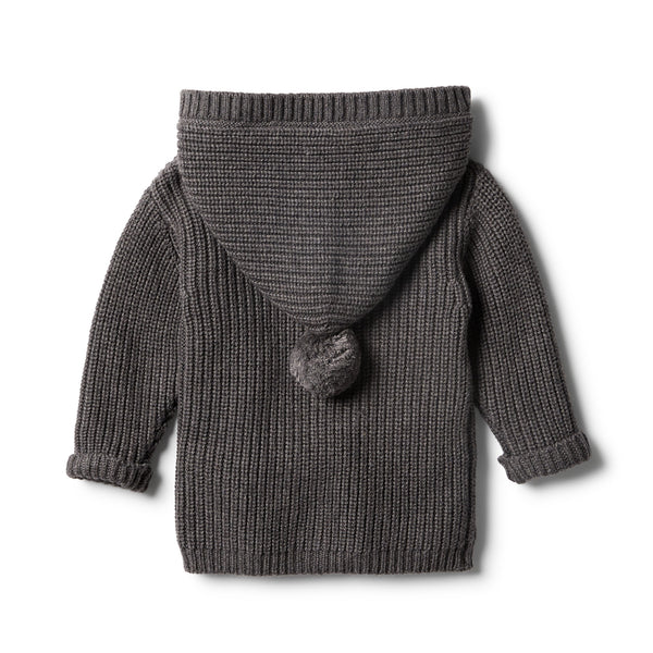 Storm Grey Rib Knitted Jacket - Wilson and Frenchy