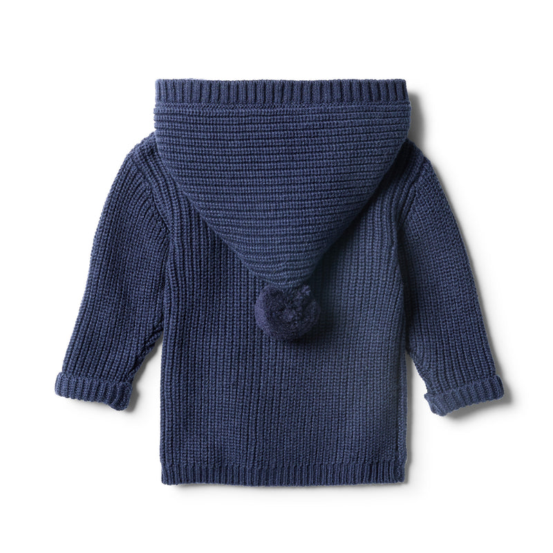 Twilight Blue Rib Knitted Jacket - Wilson and Frenchy